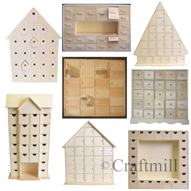 Plain Wooden Advent Calendars Choice Of Styles Ready To