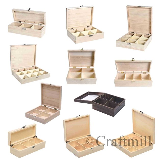 Plain-wooden-storage-boxes-removable-compartments-for-beads-fishing-tackle-tea
