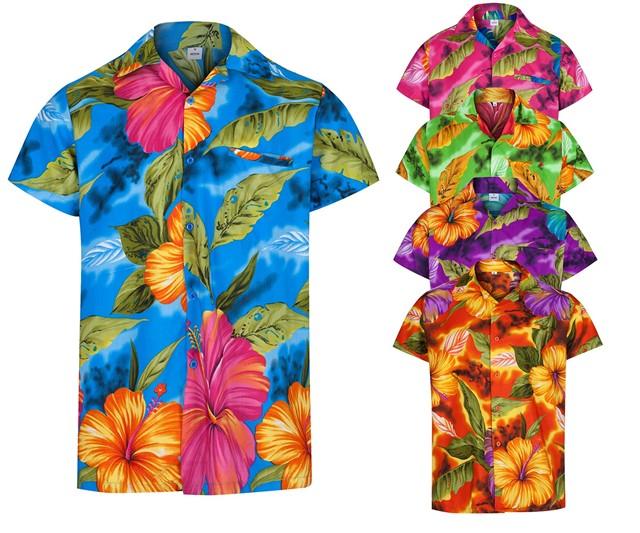 Mens hawaiian shirt hibiscus themed party holiday beach for Hawaiian shirt fancy dress