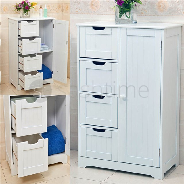 New bathroom cabinet storage bedroom wooden cupboard 4 for Furniture 30cm deep
