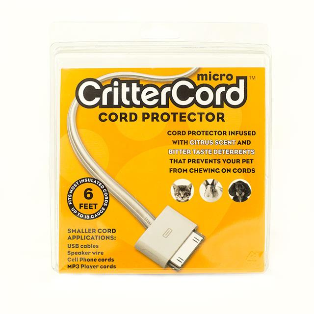 micro crittercord citrus cord cable protector 6 ft rabbit cat dogs pets 18 guage. Black Bedroom Furniture Sets. Home Design Ideas
