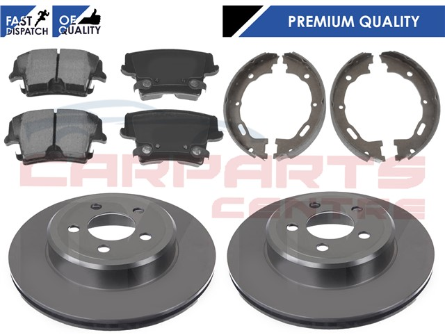 for chrysler 300c 300 c rear brake discs brake pads hand brake shoes set 05 10 ebay. Black Bedroom Furniture Sets. Home Design Ideas