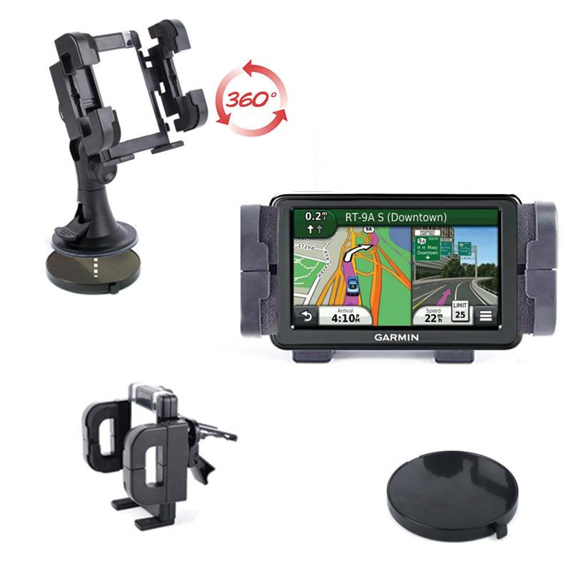 support voiture rotatif pour gps garmin n vi 50 2597lmt 2595lmt 3597 2360 ebay. Black Bedroom Furniture Sets. Home Design Ideas