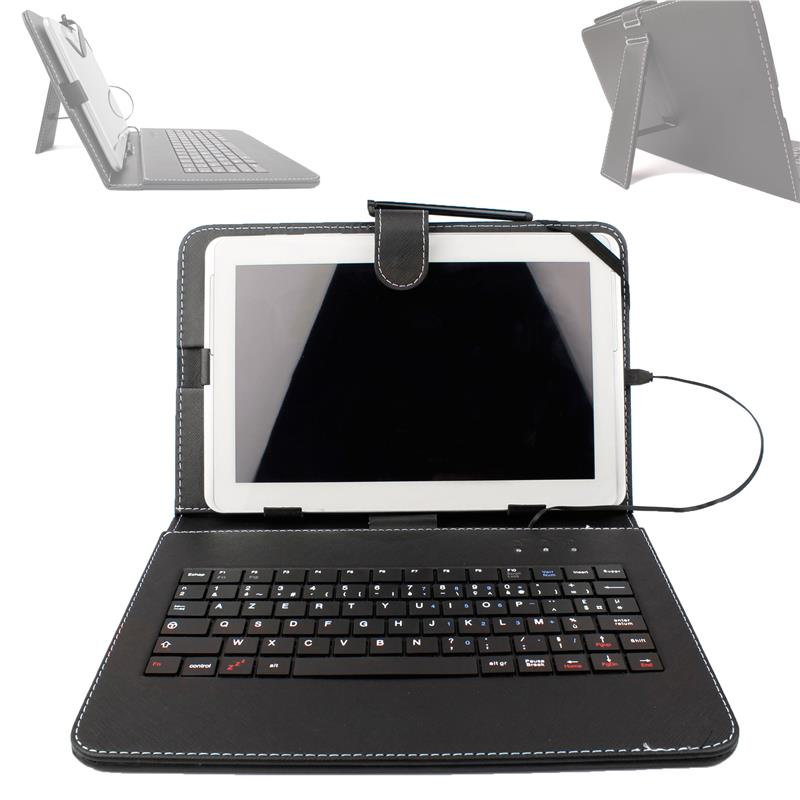 Etui clavier azerty pour tablette samsung galaxy tab 4 for Tablette samsung