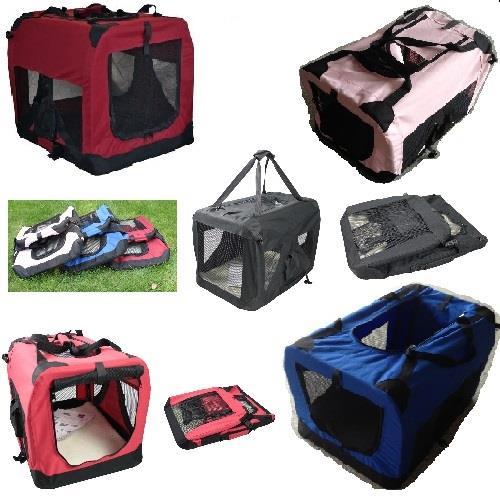 Folding Fabric Pet Crate Dog Carrier Oxford D