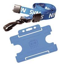 NHS Triple Breakaway Lanyard with Premier YoYo Badge Reel /& ID Card Holder.