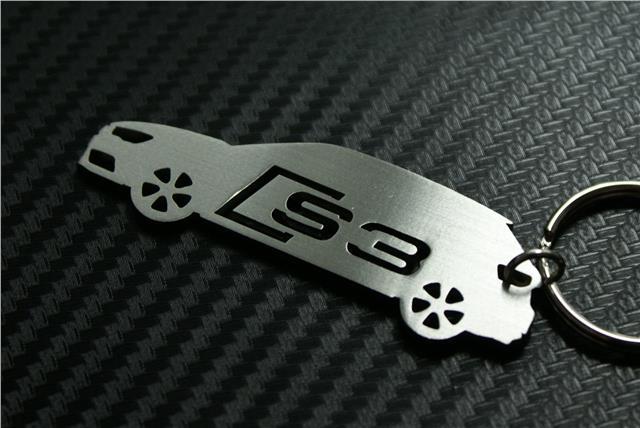 For audi s3 car keychain keyring schl sselring porte cl s for Porte cle audi s line