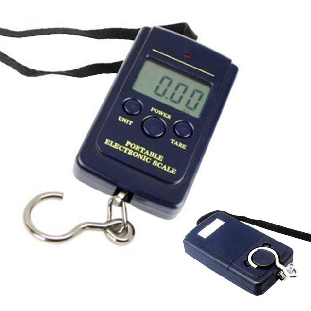 Digital scale balance lcd 40kg luggage fishing hanging for Fish weighing scale