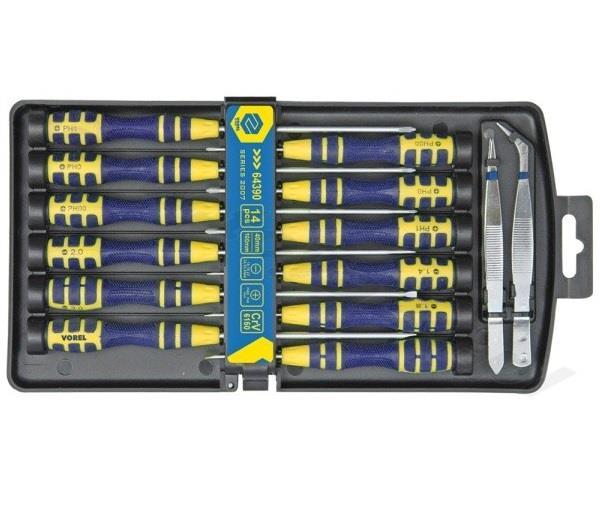 vorel precision screwdriver set of 14 pcs ebay. Black Bedroom Furniture Sets. Home Design Ideas