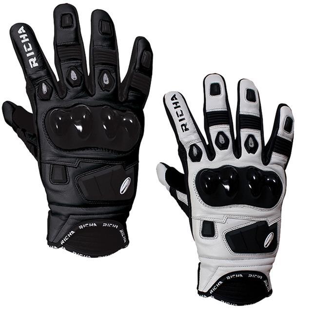 richa rock cuir t carbone ventil court sport course gants moto ebay. Black Bedroom Furniture Sets. Home Design Ideas