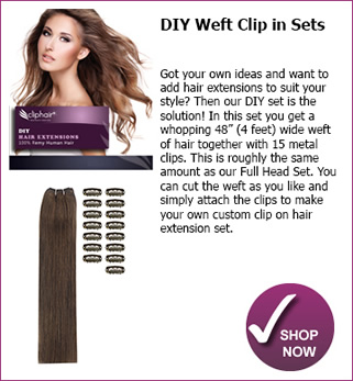 Finest quality full head remy clip in human hair extensions real diy clipin sets pmusecretfo Choice Image