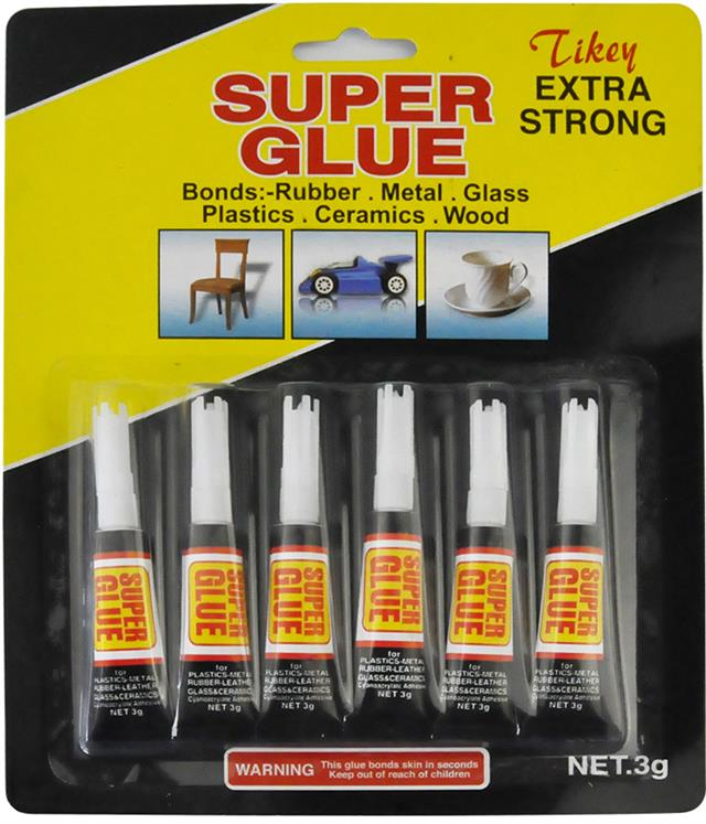 Super Glue Extra Strong Liquid Adhesive Rubber Metal Glass