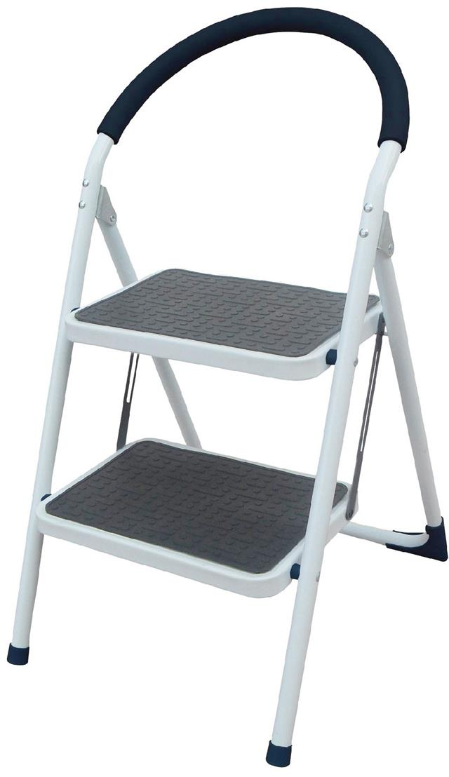 Pro Foldable Kitchen Safety Ladder 2 Step Non Slip Tread