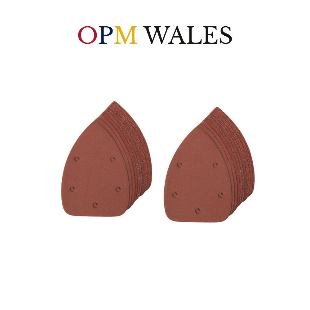 140mm Detail Palm Sander Pad Sanding Sheets Hook /& Loop 10 X 80 Grit