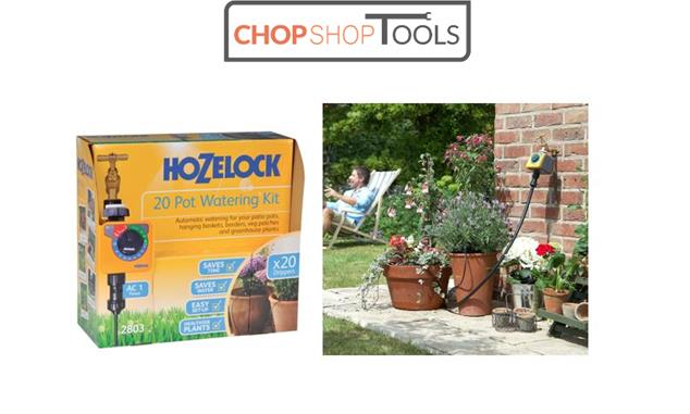 Hozelock 20 Pot Watering Kit With Aqua Control Timer Irrigation