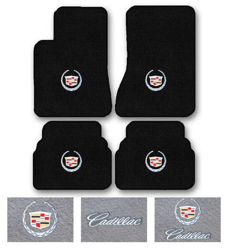 Choose Color /& Logo 2006-2011 Cadillac DTS 2pc Velourtex Carpet Floor Mat Set
