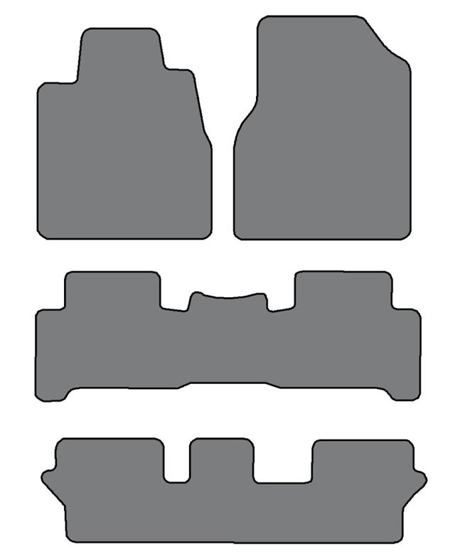 2007-2013 Acura MDX 3 Row Sets Custom-Fit Carpet Floor