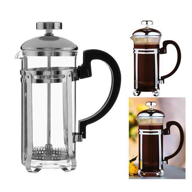 KONA CHROME CAFETIERE COFFEE MAKER FRENCH PRESS HEAT RESISTANT GLASS 2 CUP/350ML eBay