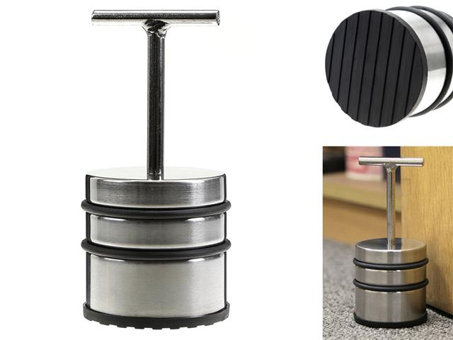 CHROME DOOR STOPPER WITH HANDLE HEAVY DUTY STOP WEIGHT NON