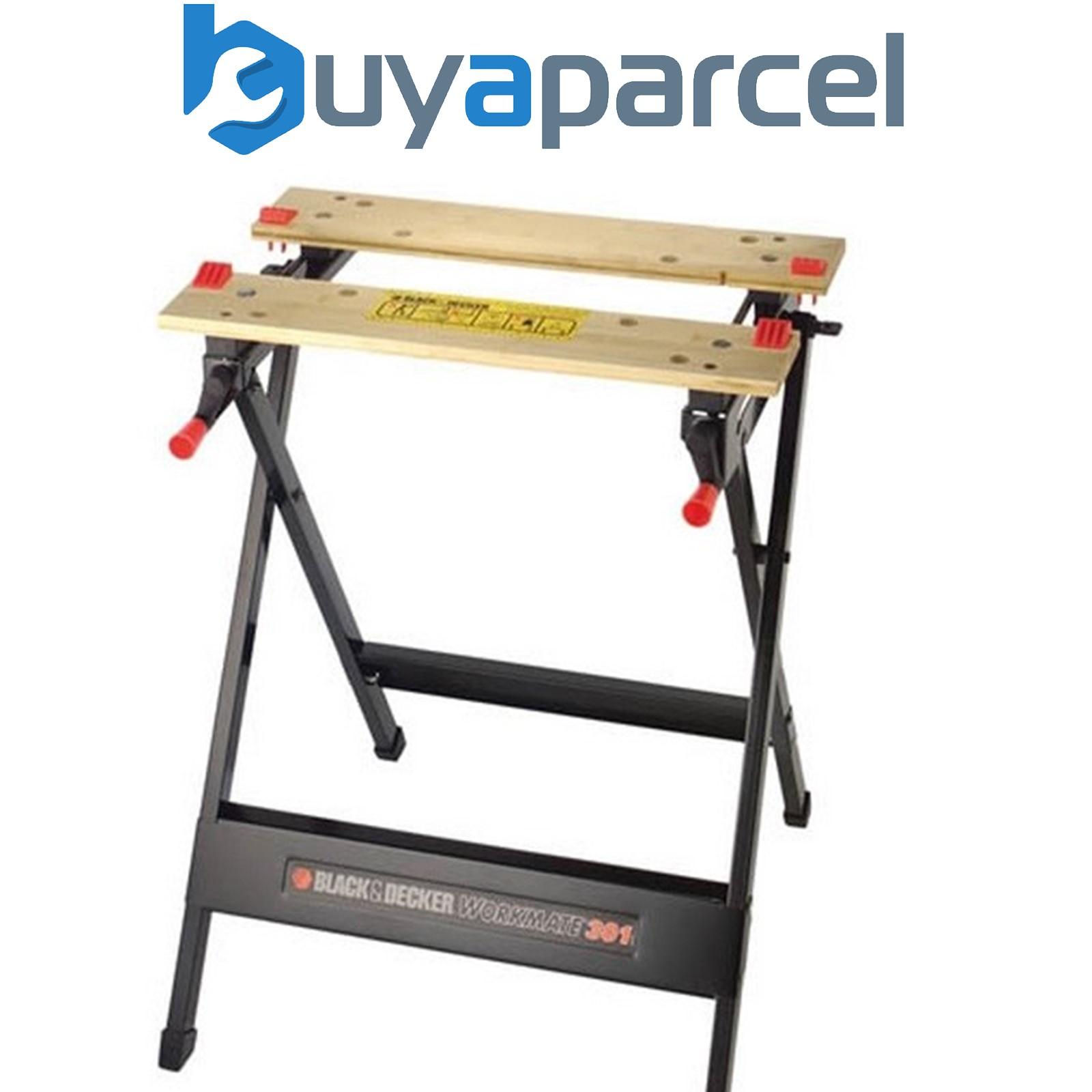 Black And Decker Wm301 Series Workmate Work Bench Vice Stand Saw Horse Wm301 Xj Ebay