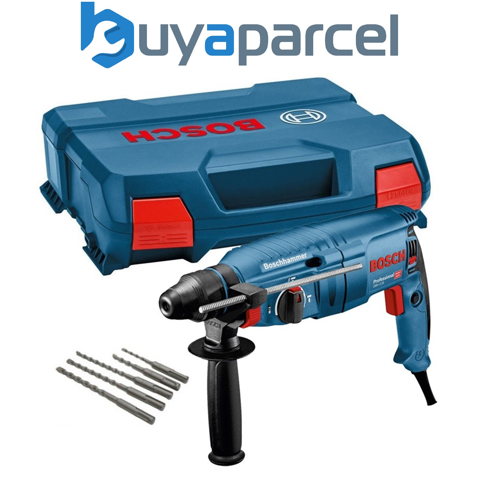 bosch gbh2 26dre 240v sds plus rotary hammer drill 800w 5 piece sds bit set ebay. Black Bedroom Furniture Sets. Home Design Ideas