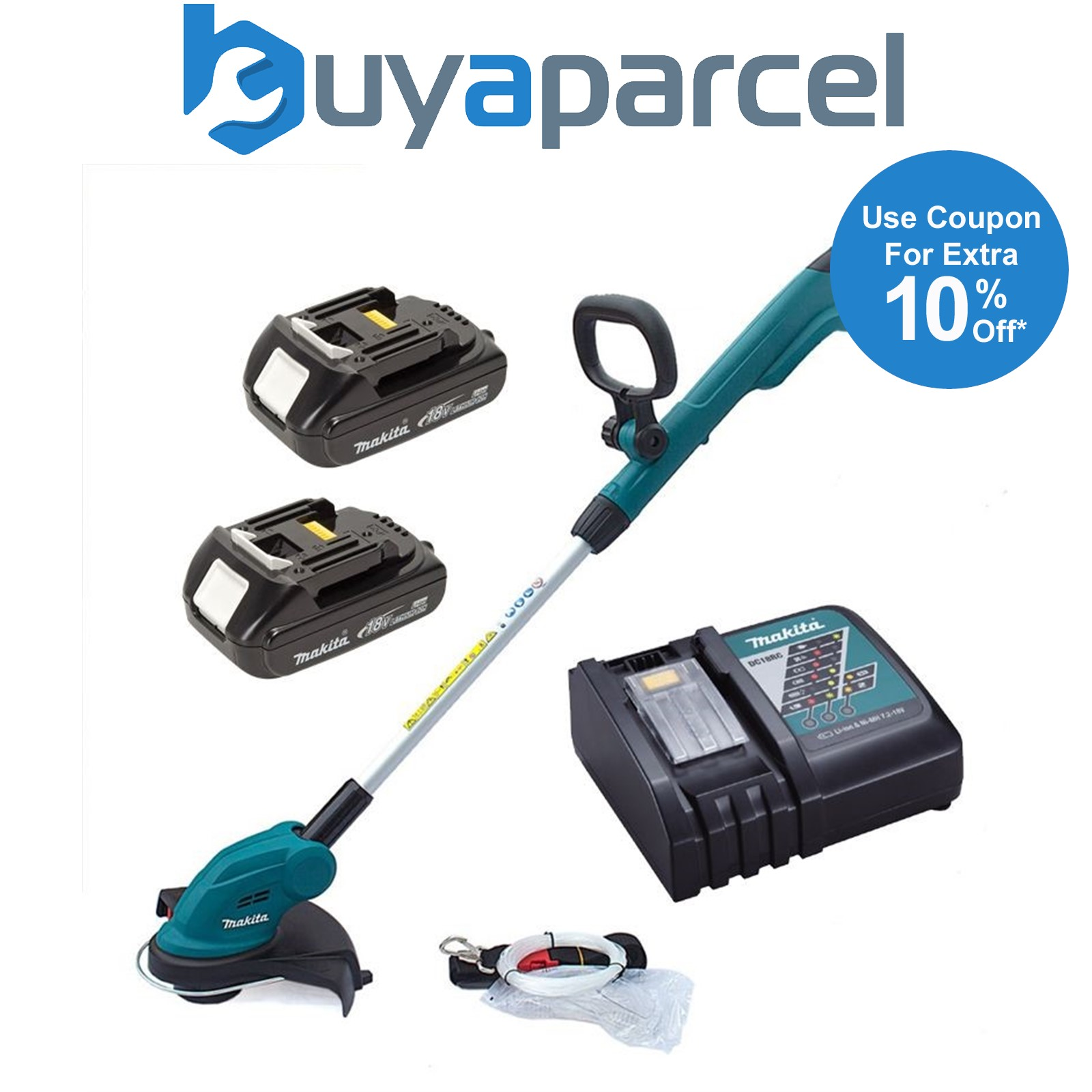 makita dur181 lxt 18v li ion cordless line trimmer strimmer 2x batteries charger ebay. Black Bedroom Furniture Sets. Home Design Ideas