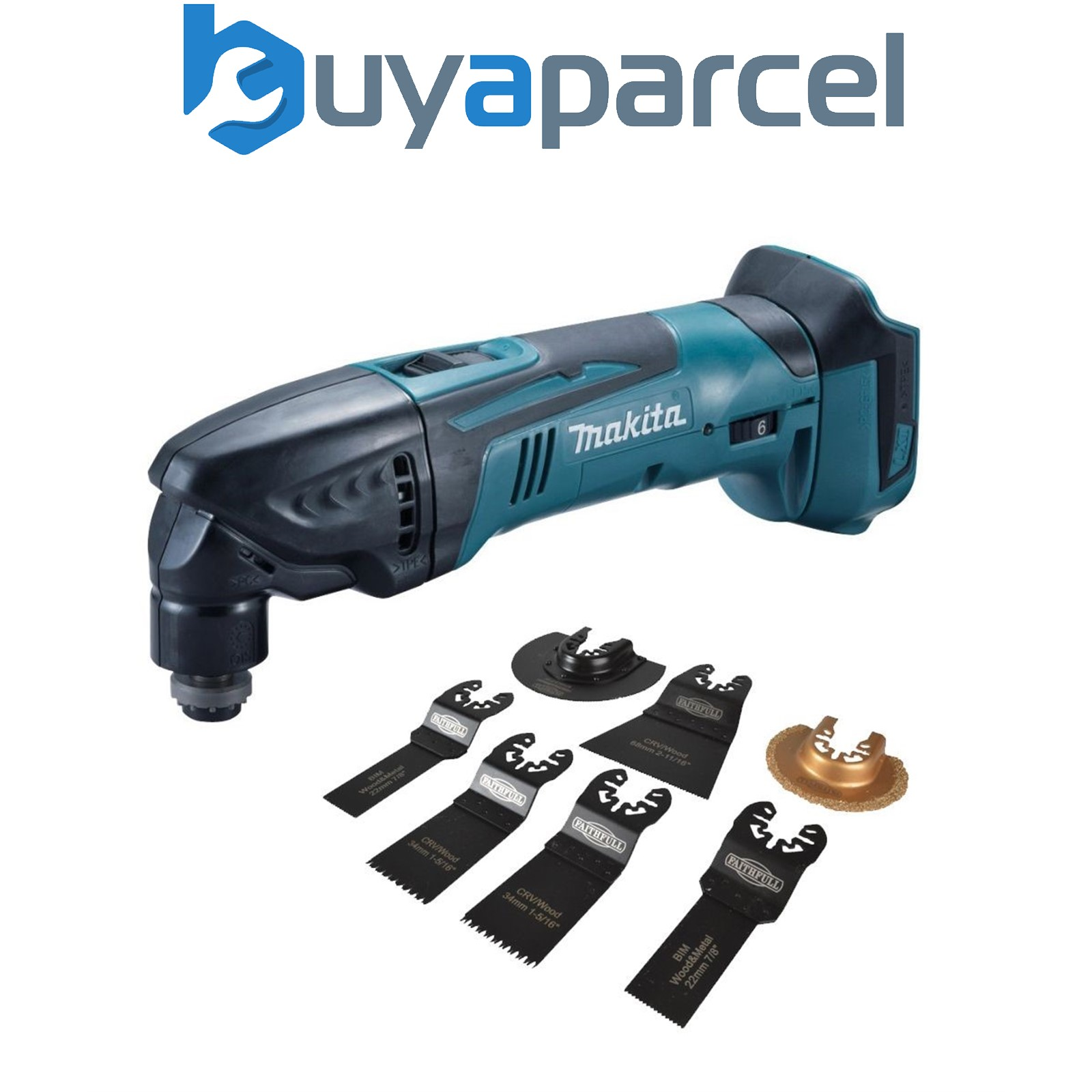 makita dtm50z 18v lxt li ion cordless multi tool bare unit 7pc accessory set ebay. Black Bedroom Furniture Sets. Home Design Ideas