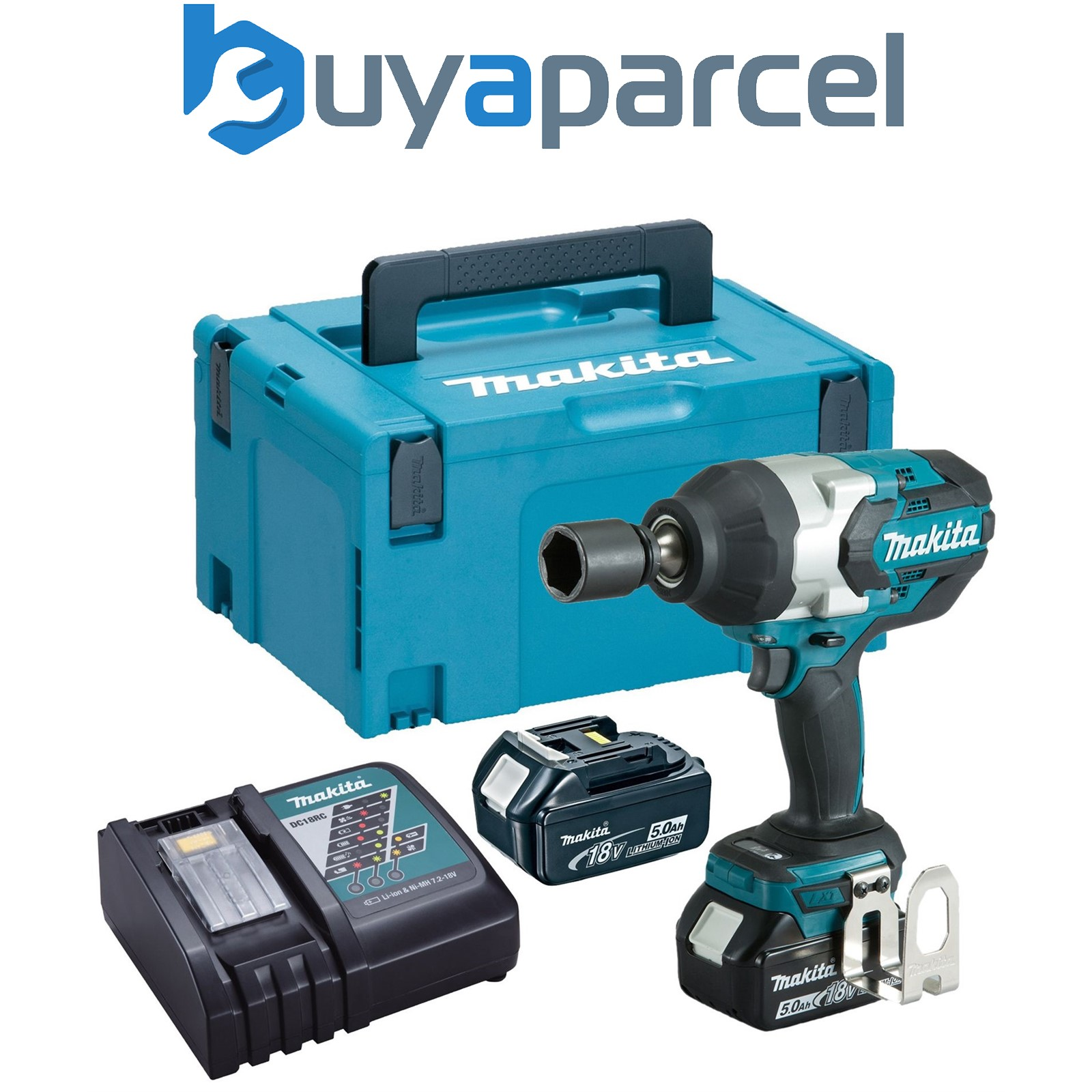 makita dtw1001rtj 18v lxt brushless impact wrench 3 4 2. Black Bedroom Furniture Sets. Home Design Ideas