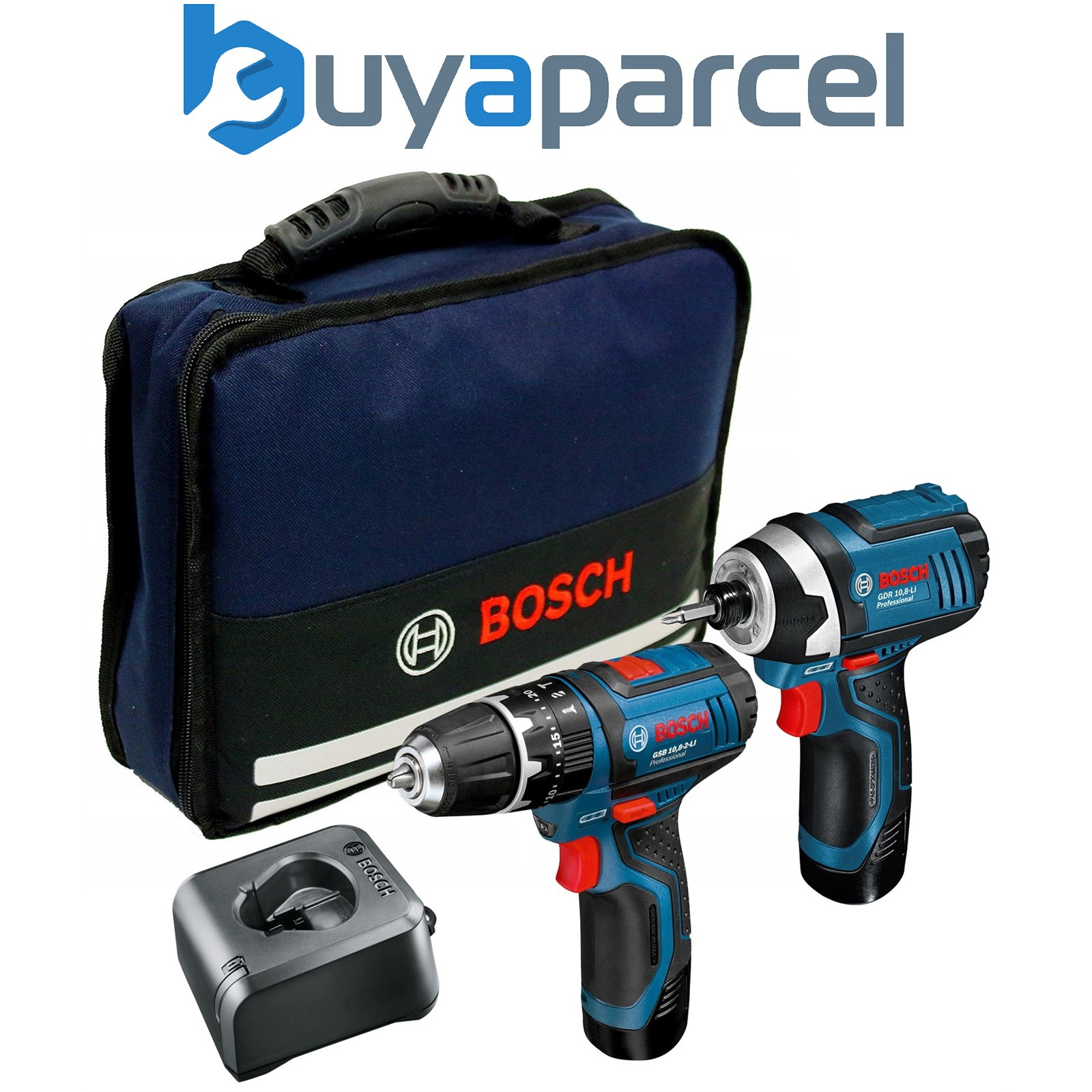 bosch twin pack gsb combi hammer drill gdr impact driver lithium ion ebay. Black Bedroom Furniture Sets. Home Design Ideas