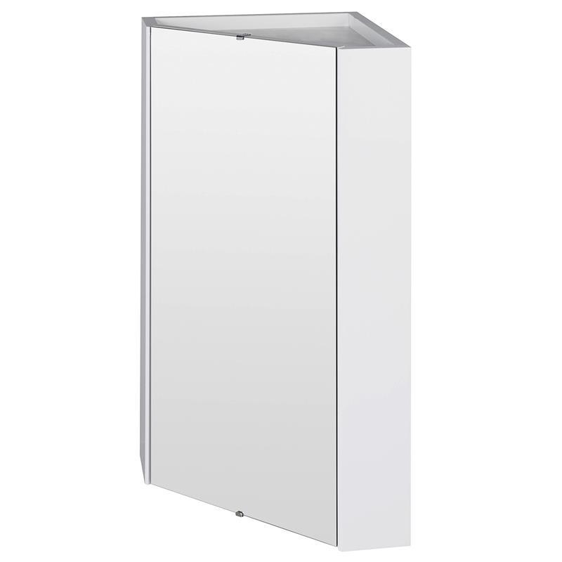 about premier cardinal corner mirrored bathroom cabinet 459mm w white