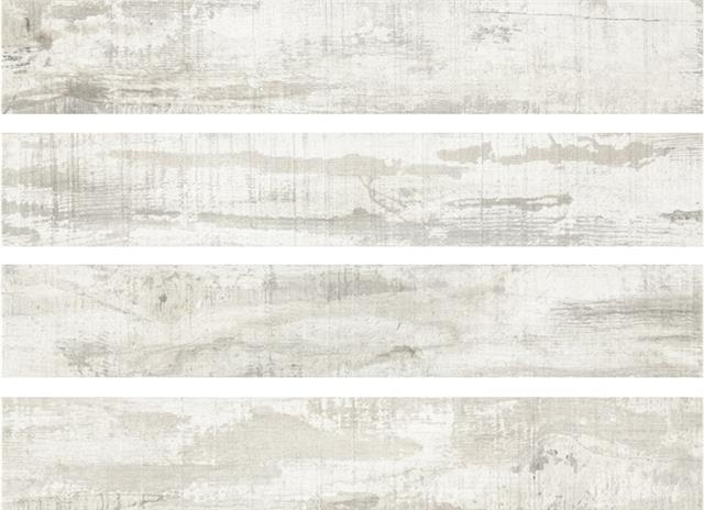 Roof White Wood effect Porcelain Wall/Floor Tiles 900x150mm (Made in ...