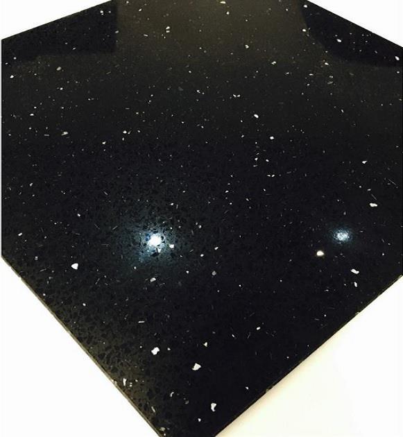SAMPLE Stardust Starlight Black Speckle Quartz WALL & FLOOR TILE DIY Materials Flooring & Tiles