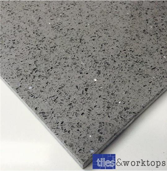 Sample Of Grey Quartz Stardust Starlight Mirror Tiles 3999 M2 Inc