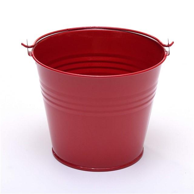 Five 15cm 6 large metal buckets pots pails tins herb for Metal bucket planter