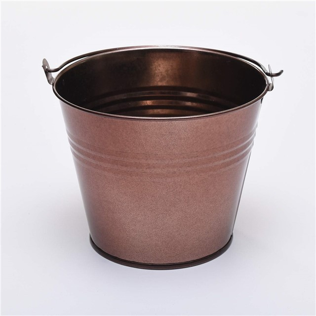 Five 15cm 6 large metal buckets pots pails tins herb for Large metal tub for gardening