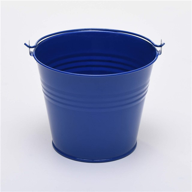Five 7cm small metal buckets pots pails tins favours for Small pail buckets
