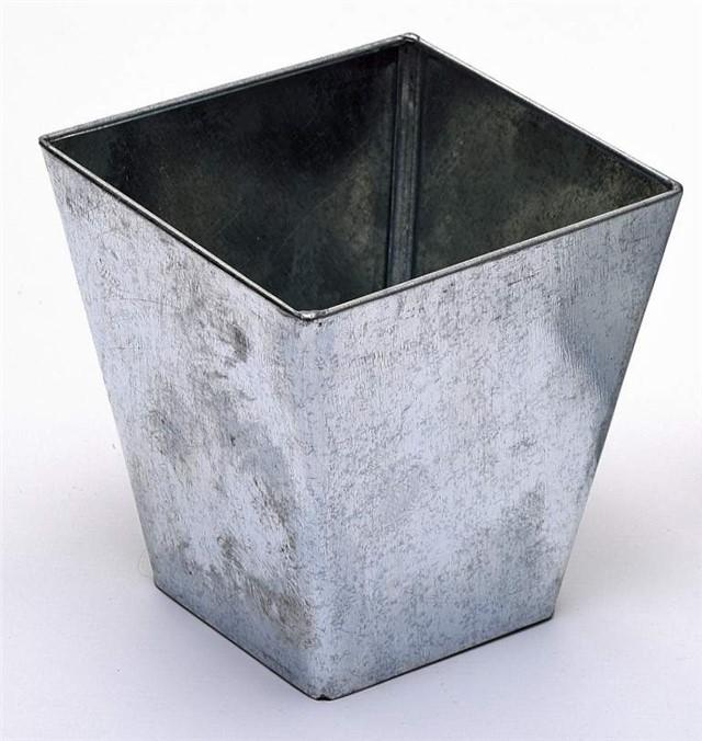 Five 5 metal buckets pots pail tins herb planter for Metal bucket planter