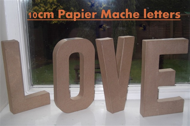 large cardboard letters papier paper mache large amp small letters numbers 20 5cm 17287