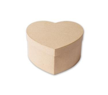 Plain-HEART-SHAPED-STRONG-PAPIER-MACHE-CARDBOARD-BOX-choose-your-size