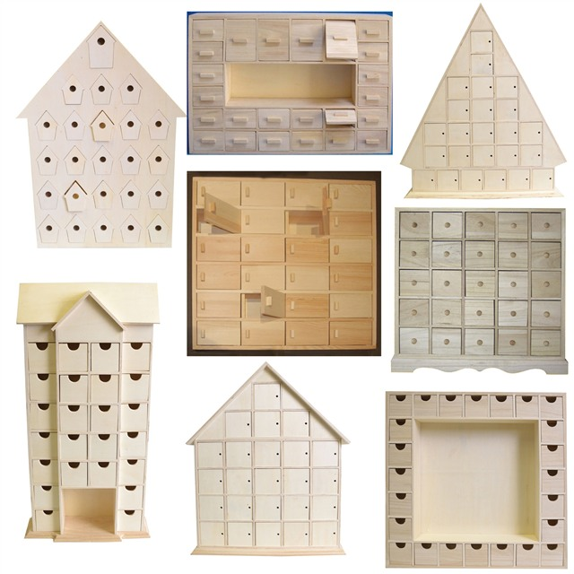 Plain Wooden Advent Calendars Unfinished And Ready To