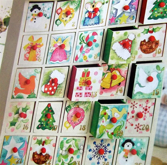 Advent Calendar Item Ideas : Plain wooden advent calendars unfinished and ready to