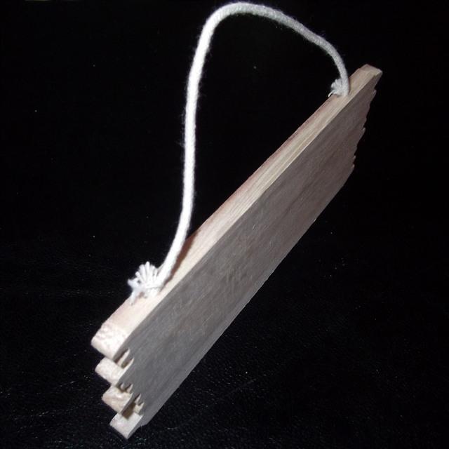 CC05 Stile Western lisci in legno porta Firmare libera POST STAFFA Targa con corda