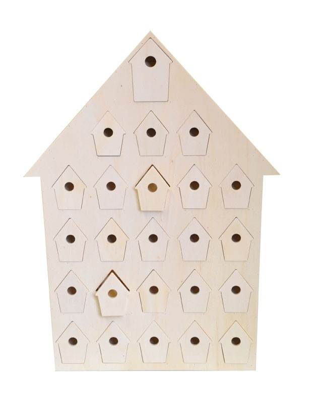 Plain Wooden Advent Calendars - unfinished and ready to decorate & make your own