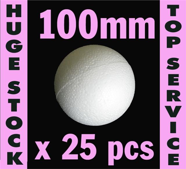 10cm Sweet Tree Crafts Decoration Xmas POLYSTYRENE BALLS UK SUPPLIED 100mm