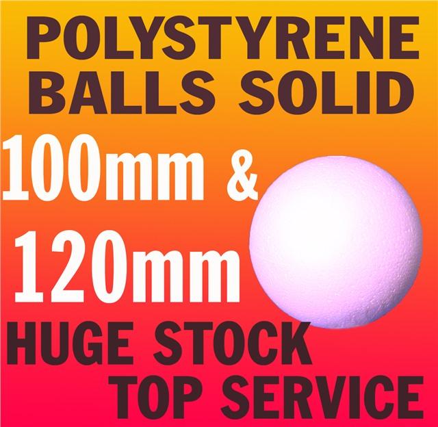 Foam Styrofoam Craft Sphere Sweet Tree 100mm /& 120mm SOLID Polystyrene Balls