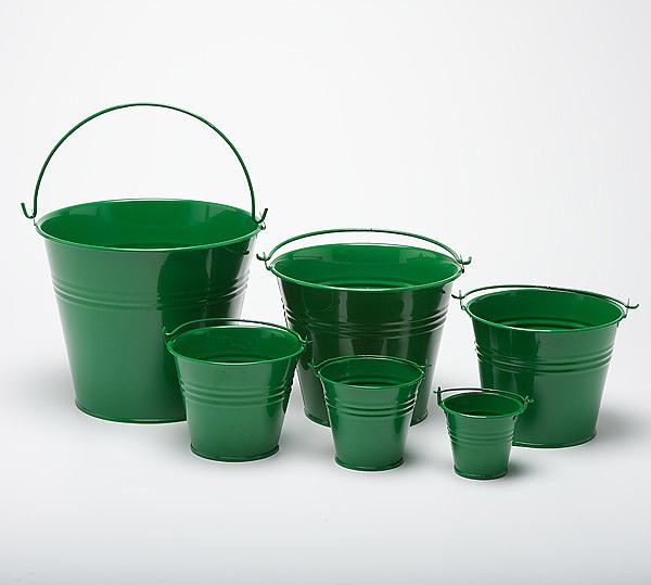 Metal buckets pots mini pail tins sweet tree plant for Small pail buckets