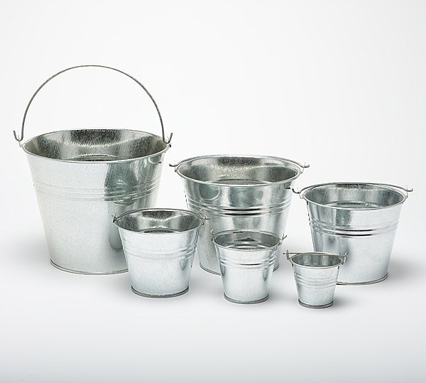 Metal buckets pots mini pail tins sweet tree plant for Tiny metal buckets