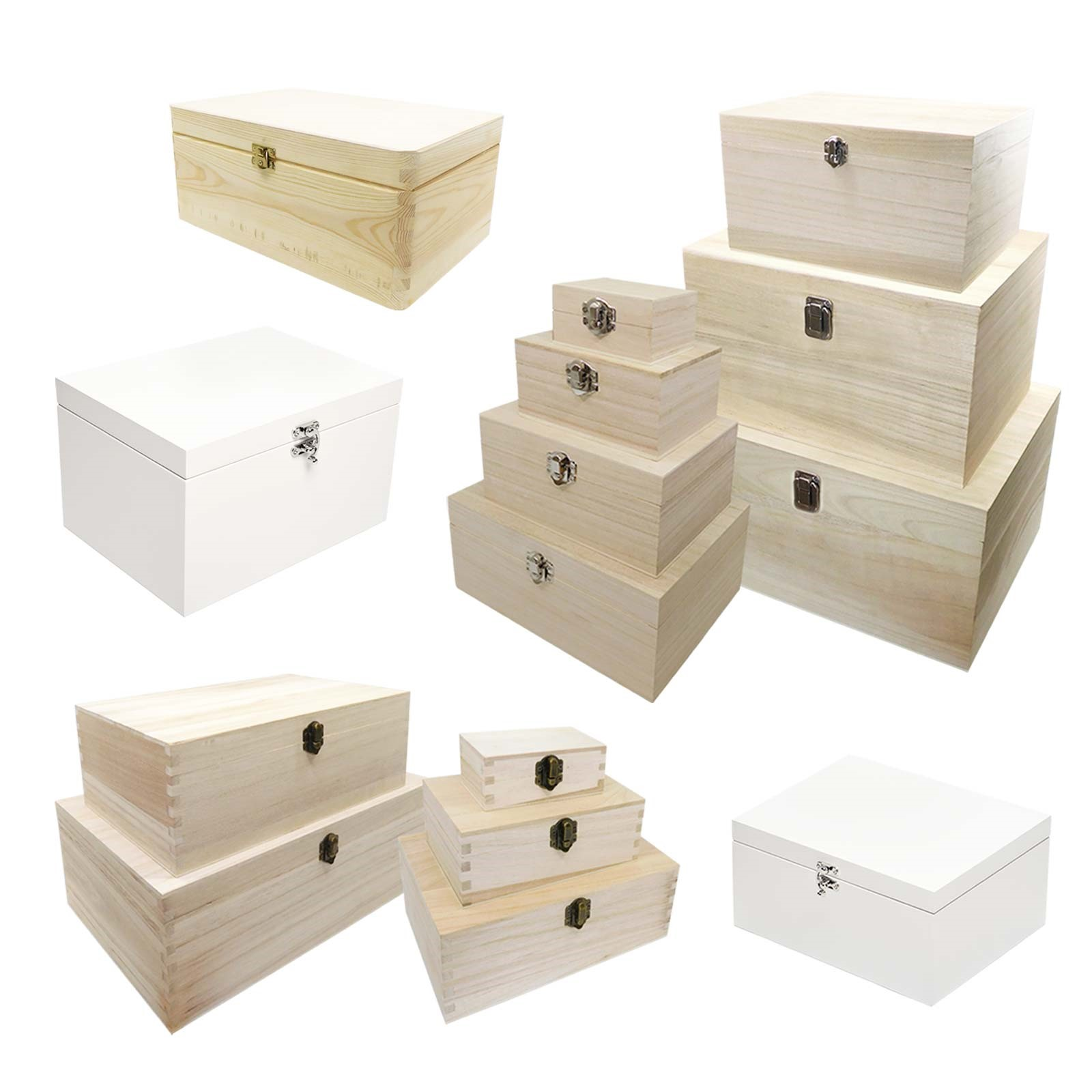 Bare Wood Storage Box 27cm x 16cm x 5cm