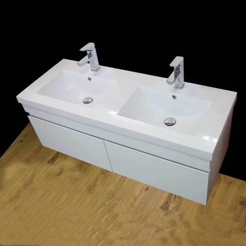 Vanity Unit Cabinet Basin Sink Bathroom Corner Wall Hung