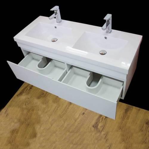 Vanity Unit Cabinet Basin Sink Bathroom Corner Wall Hung